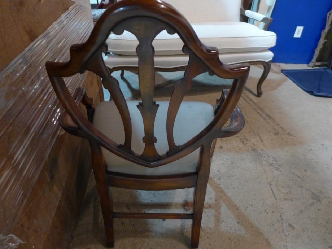 Set of 8 Mahogany Shield Back Chairs - 10