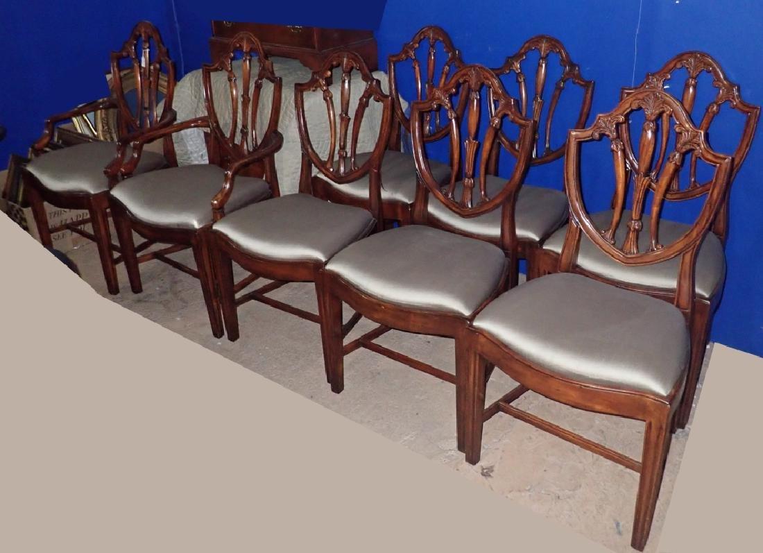 Set of 8 Mahogany Shield Back Chairs