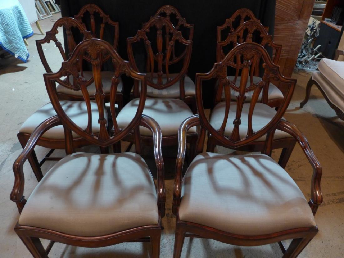 Set of 8 Mahogany Shield Back Chairs - 2