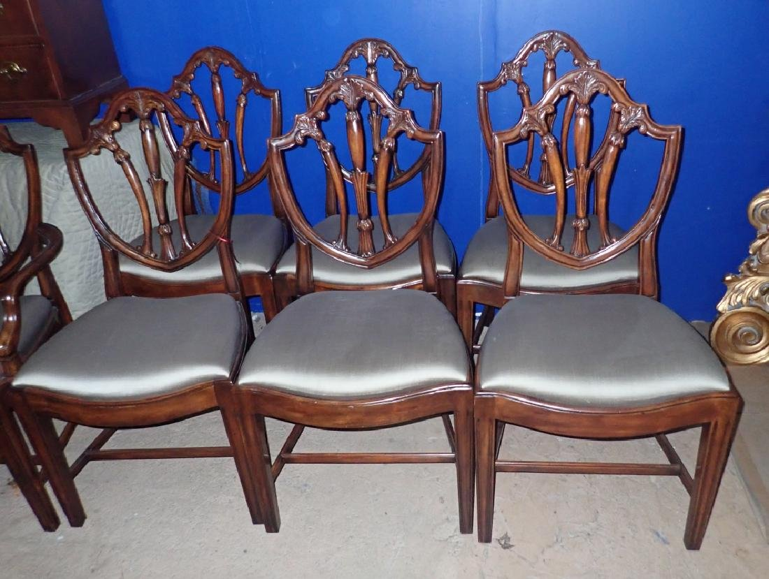 Set of 8 Mahogany Shield Back Chairs - 3