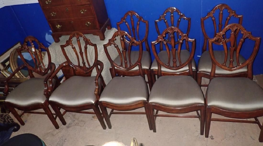 Set of 8 Mahogany Shield Back Chairs - 4