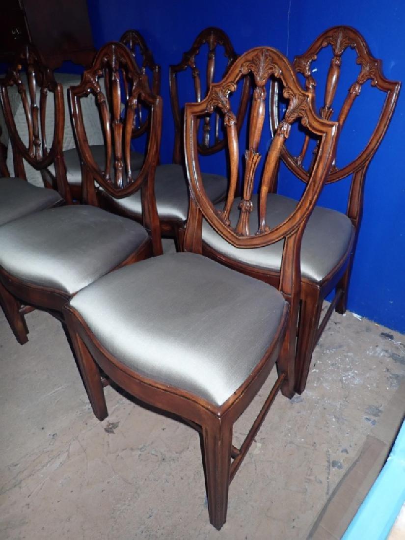Set of 8 Mahogany Shield Back Chairs - 5