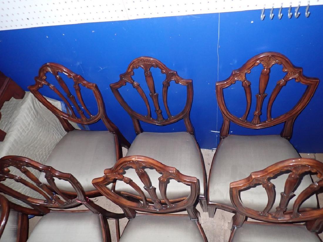 Set of 8 Mahogany Shield Back Chairs - 6