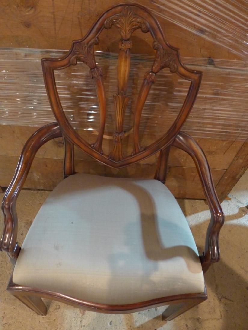 Set of 8 Mahogany Shield Back Chairs - 7