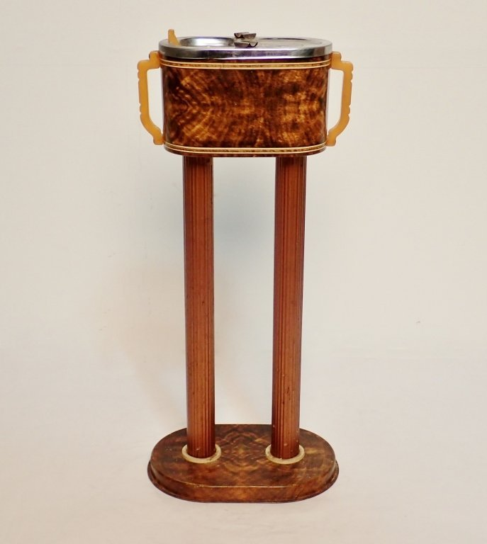 Russakov Co. Smokemaster Art Deco Standing Ashtray
