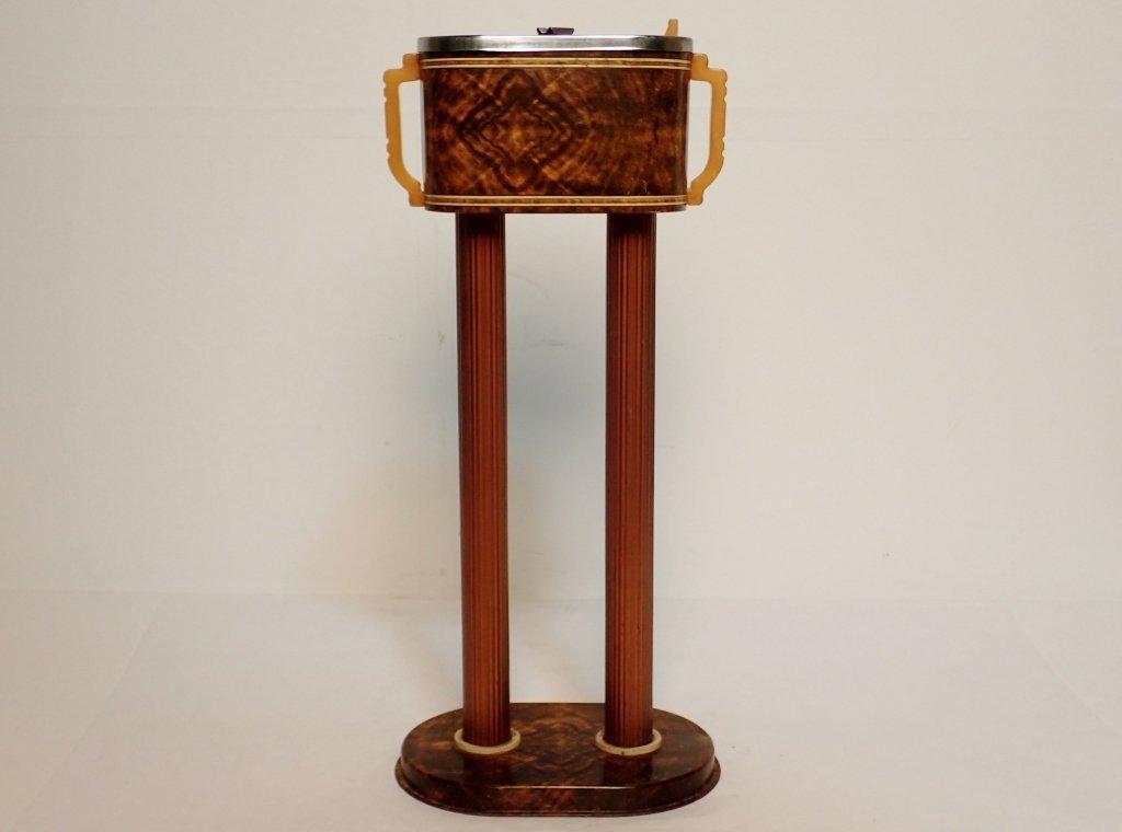 Russakov Co. Smokemaster Art Deco Standing Ashtray - 3