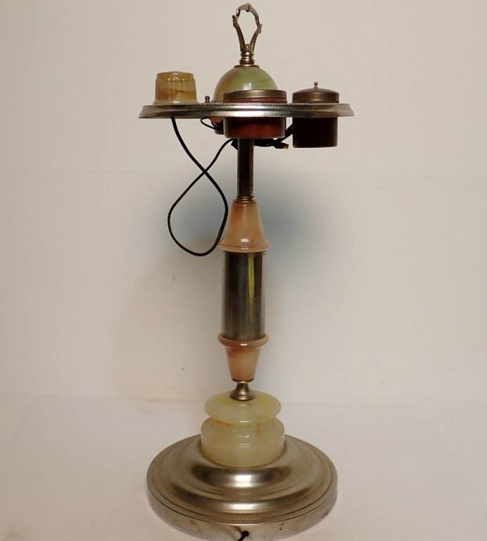ABCO Art Deco Lamp Ashtray with Electronic Lighter - 2