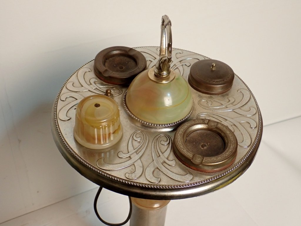 ABCO Art Deco Lamp Ashtray with Electronic Lighter - 5