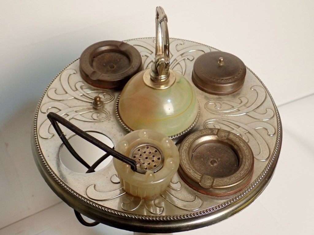 ABCO Art Deco Lamp Ashtray with Electronic Lighter - 6