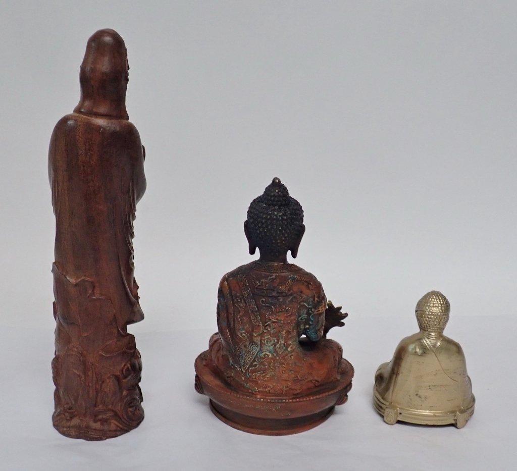 Selection of Three Buddha & Deity Statues - 4