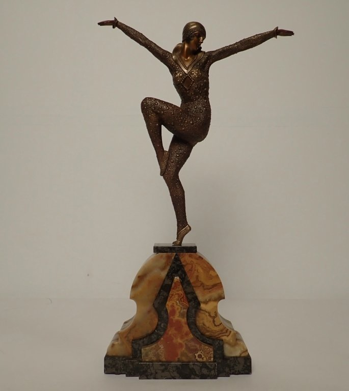 Art Deco Bronze Signed D.H. Chiparus (1886-1947)