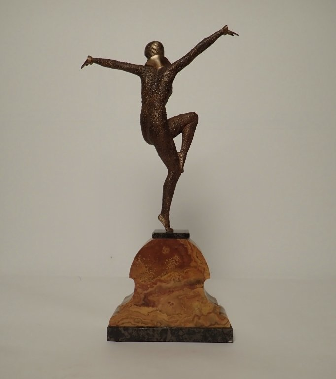 Art Deco Bronze Signed D.H. Chiparus (1886-1947) - 3