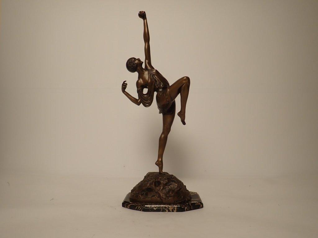 Art Deco Bronze Signed Le Faguays (1892-1962)
