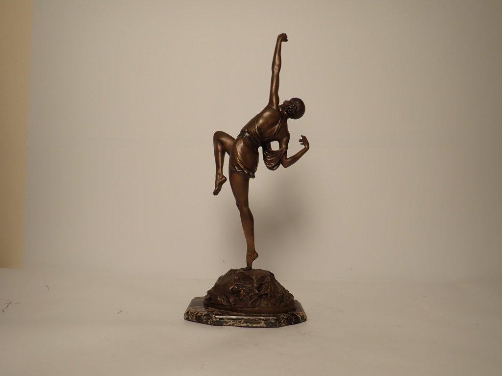 Art Deco Bronze Signed Le Faguays (1892-1962) - 3