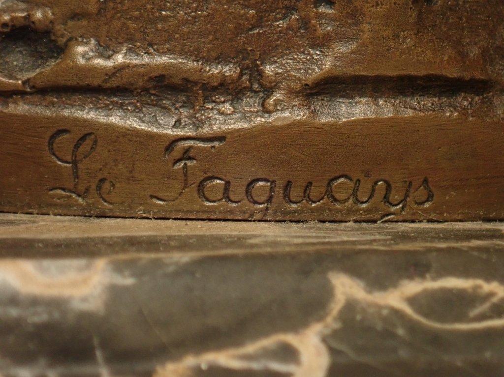 Art Deco Bronze Signed Le Faguays (1892-1962) - 7