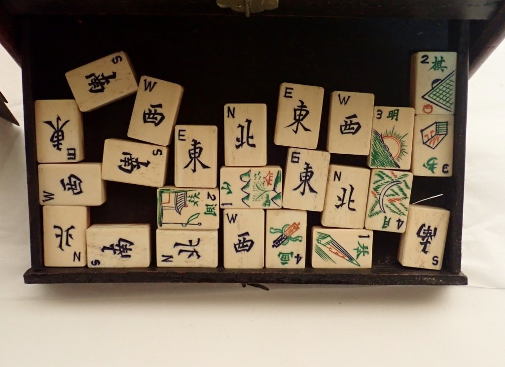 Mahjong Set with Wooden Box - 6