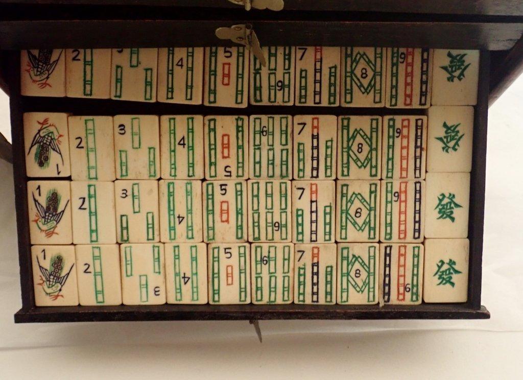 Mahjong Set with Wooden Box - 7