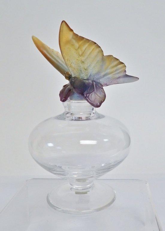 Daum France Butterfly Perfume Bottle