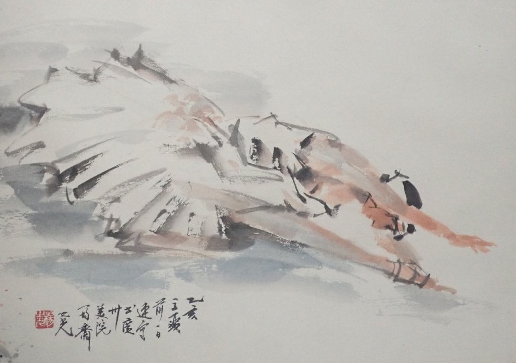 Chinese Watercolor of Ballerina, Signed - 3