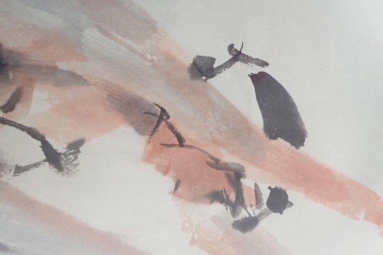 Chinese Watercolor of Ballerina, Signed - 4