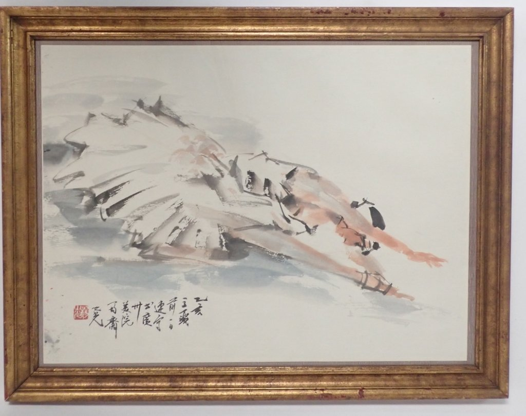 Chinese Watercolor of Ballerina, Signed - 8