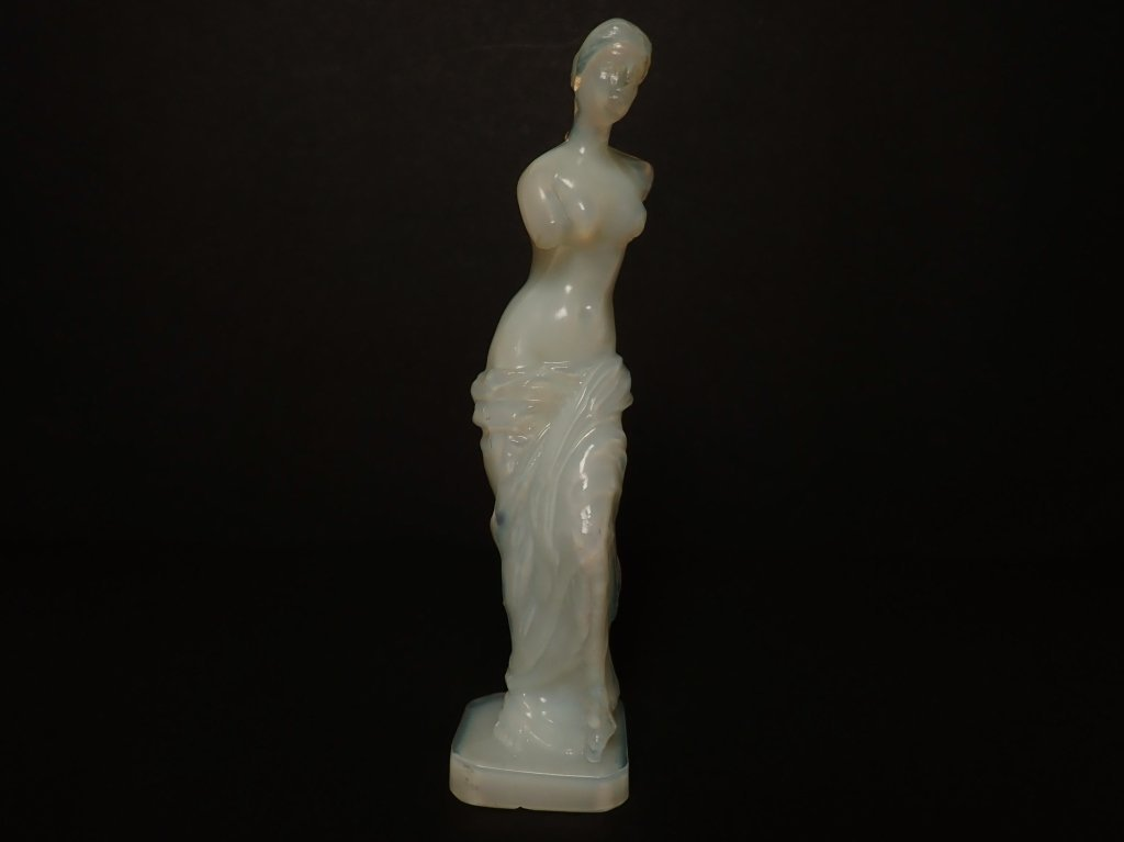 Opalescent French Glass Figurine Signed Lalique