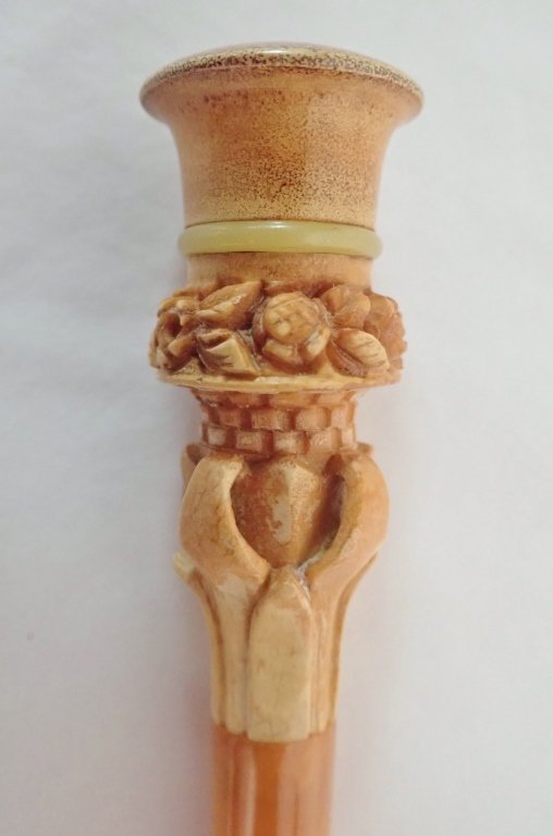 Carved Meerschaum Cigar Holder / Pipe - 4