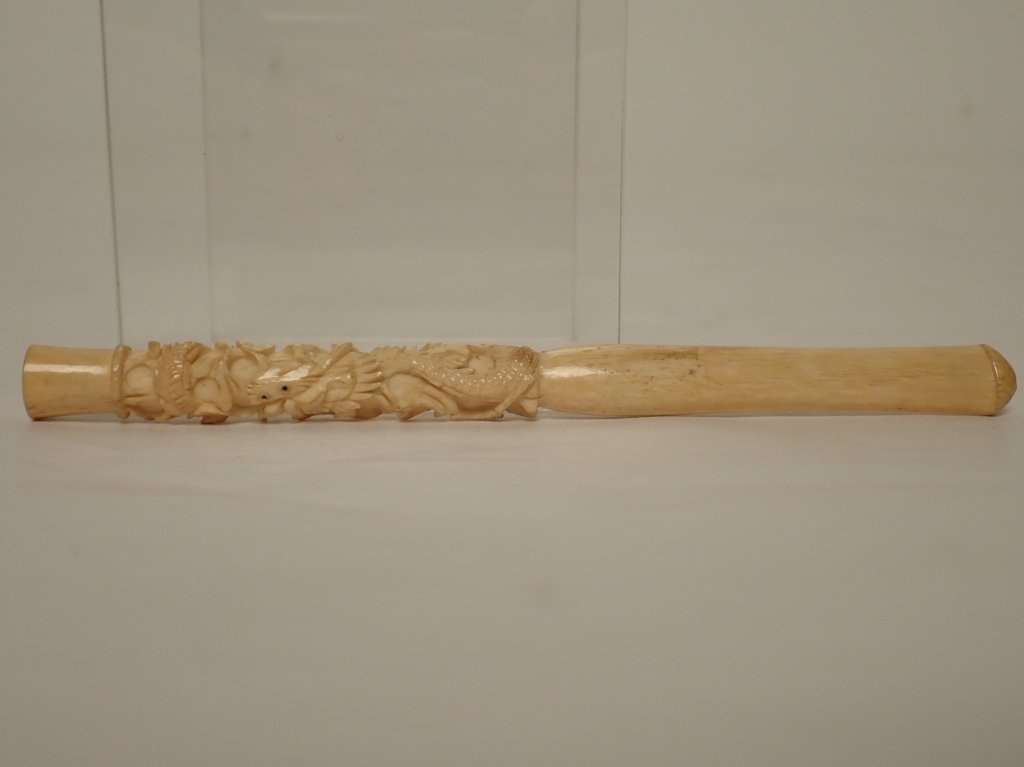 Meerschaum Cigarette Holder with Abstract Dragon