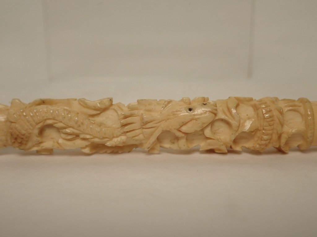 Meerschaum Cigarette Holder with Abstract Dragon - 5
