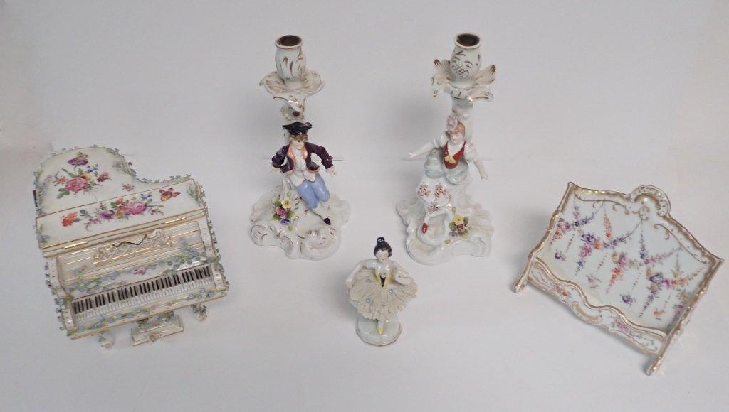 Collection of Antique German Dresden Porcelain