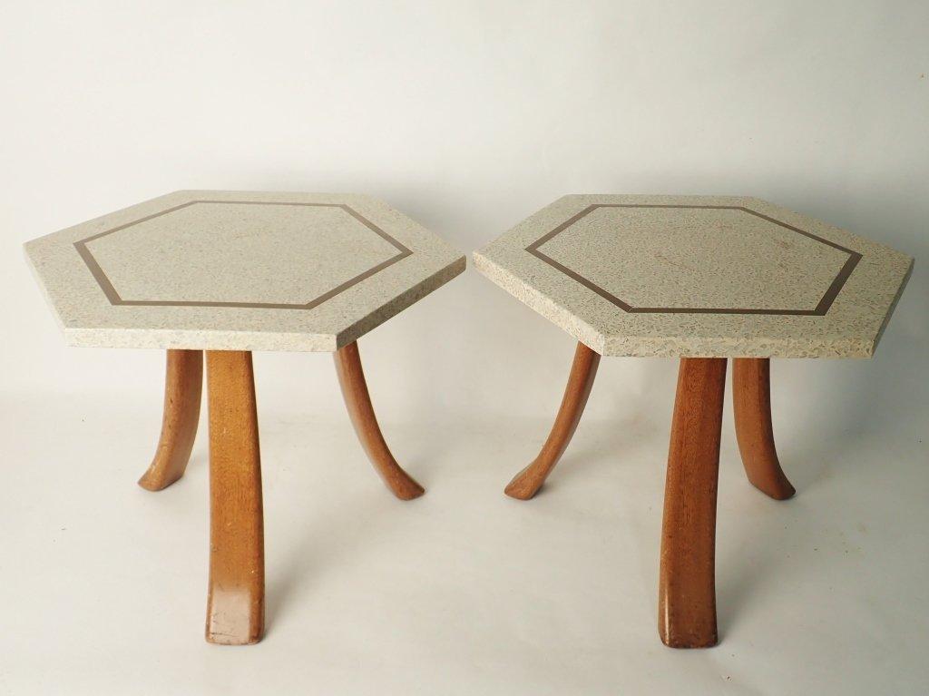 Harvey Probber Hexagonal Side Tables