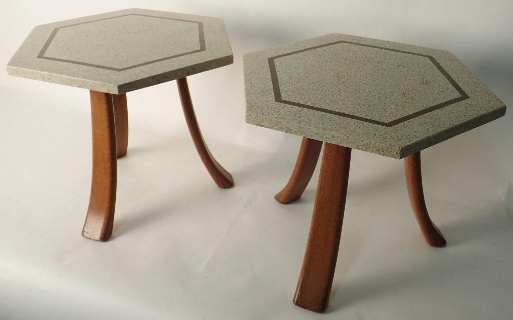Harvey Probber Hexagonal Side Tables - 2