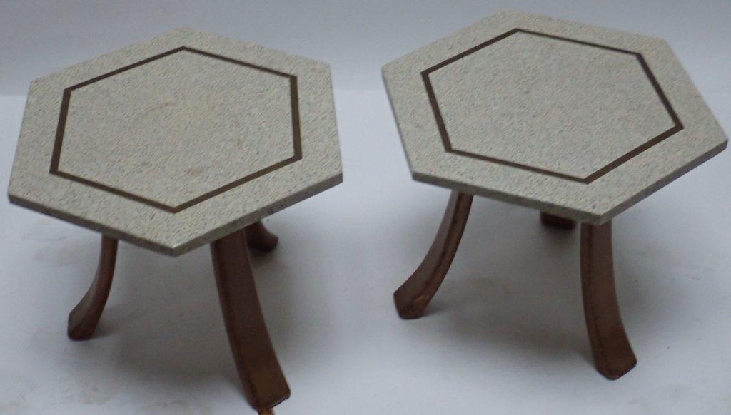 Harvey Probber Hexagonal Side Tables - 8