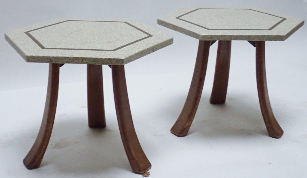 Harvey Probber Hexagonal Side Tables - 9