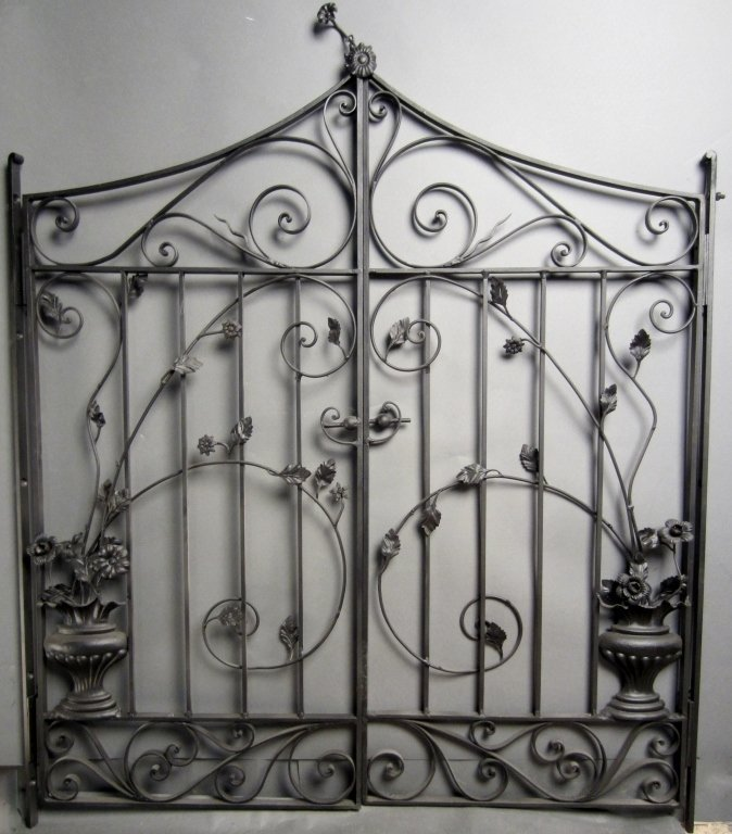 Antique Hand Wrought Iron Gates