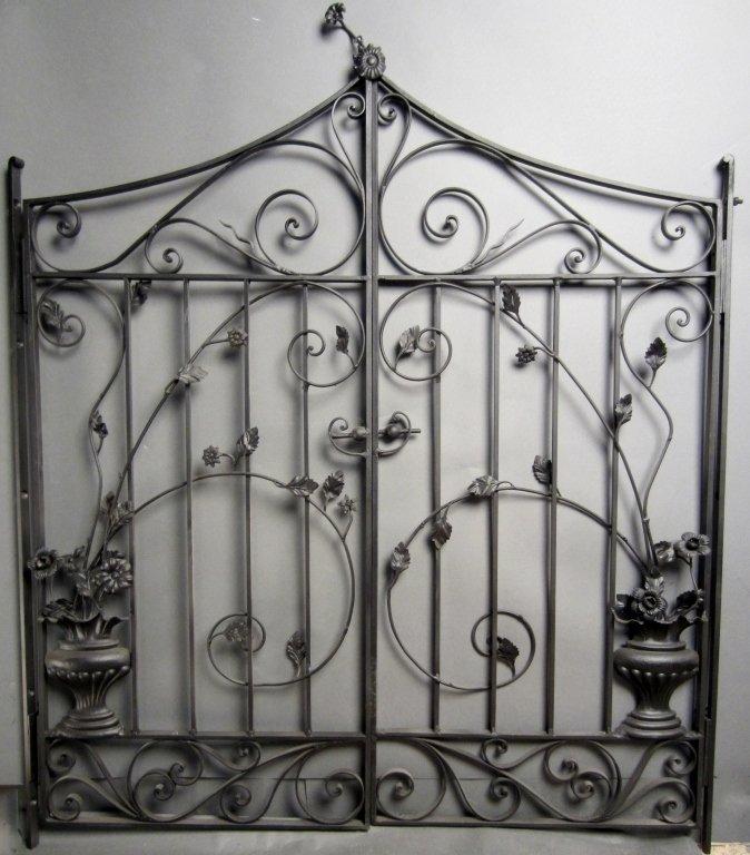 Antique Hand Wrought Iron Gates