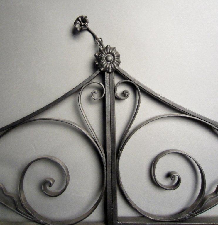 Antique Hand Wrought Iron Gates - 5