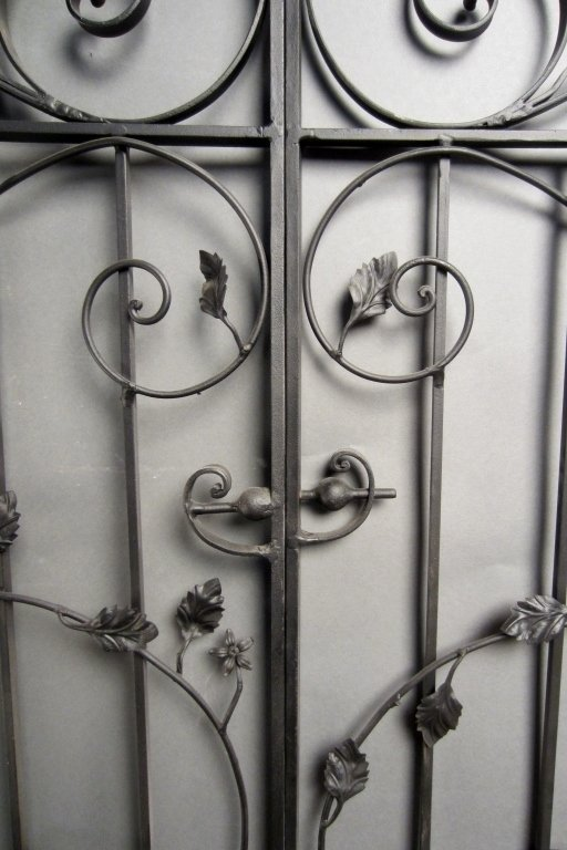 Antique Hand Wrought Iron Gates - 6
