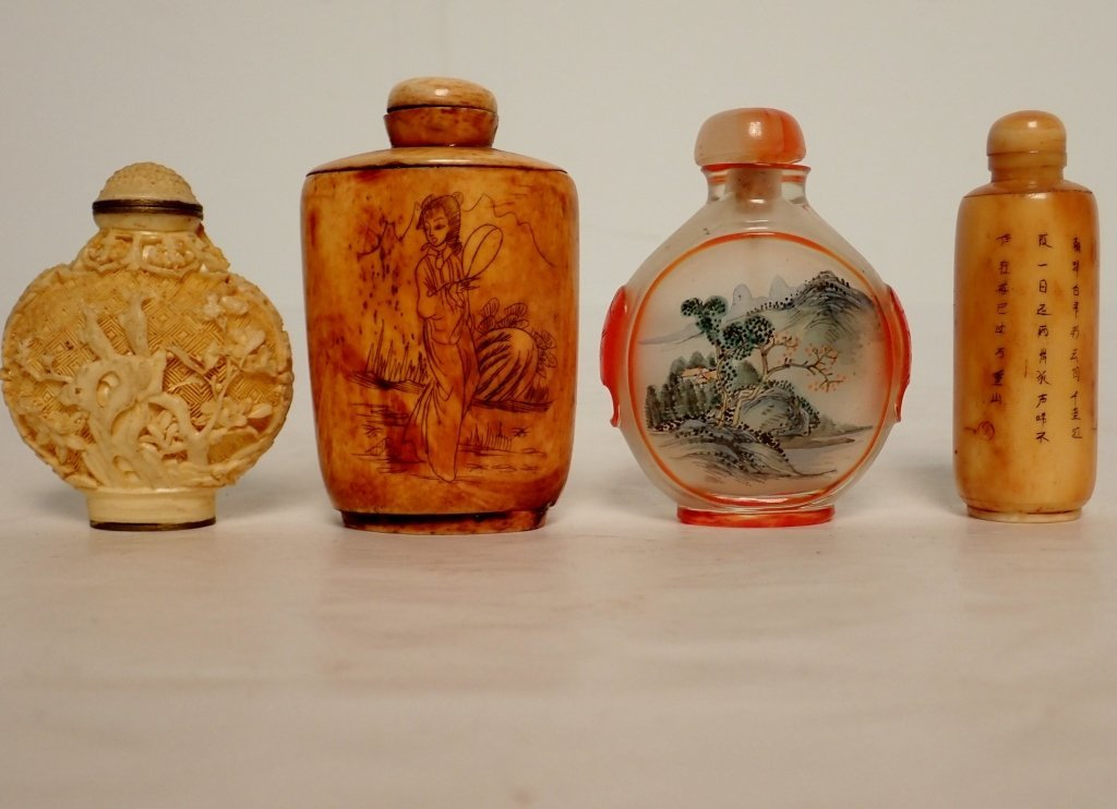 Group of Four Asian Snuff Bottles - 3