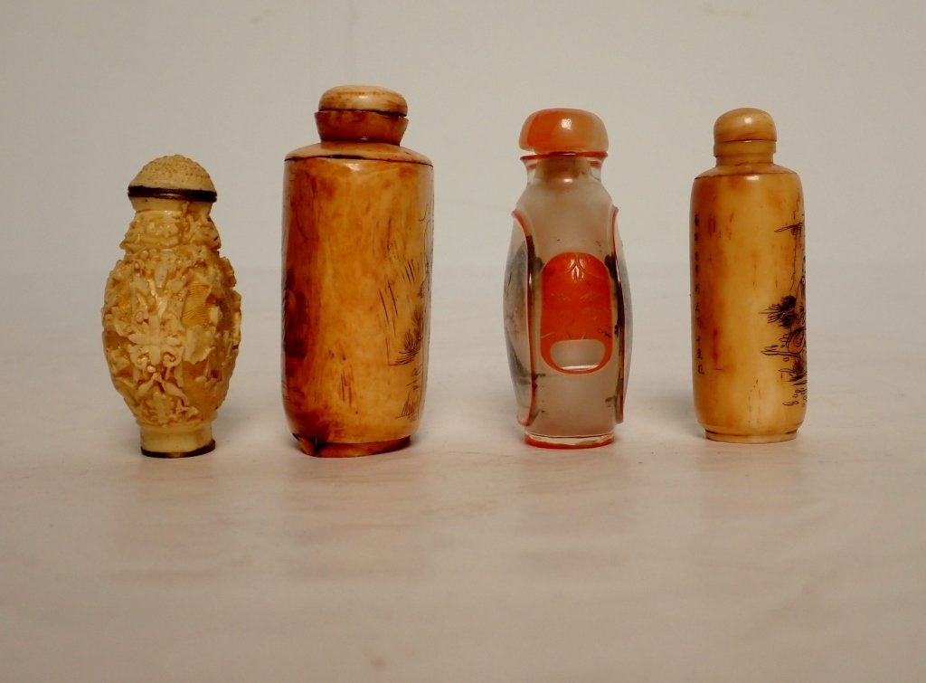 Group of Four Asian Snuff Bottles - 4