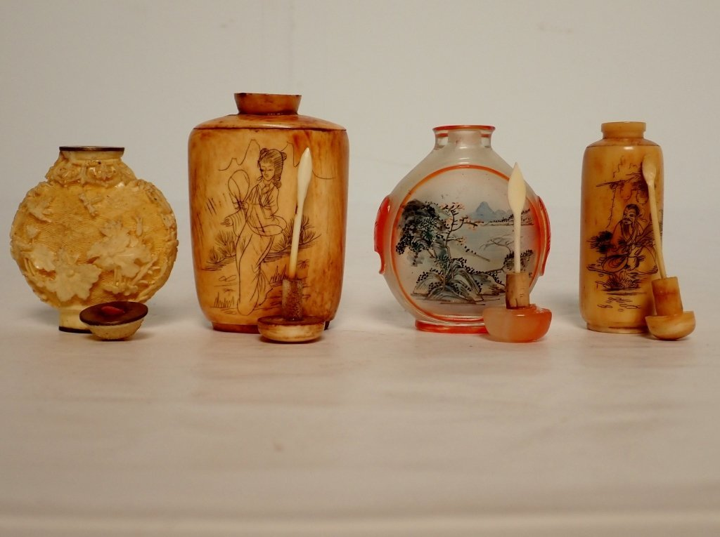Group of Four Asian Snuff Bottles - 7