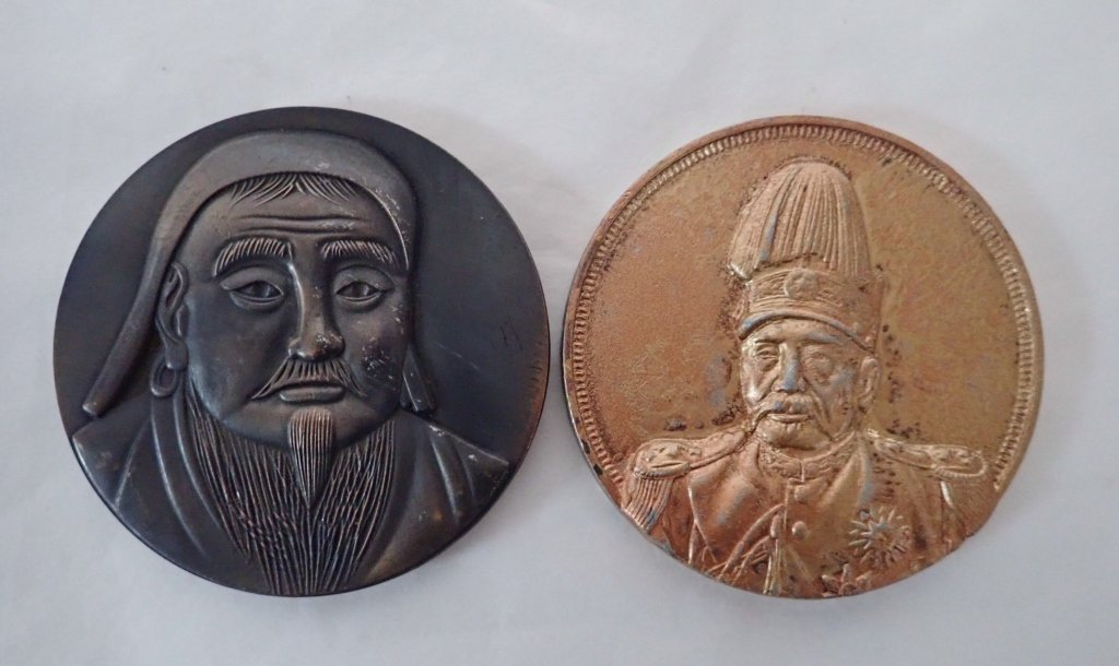 2 Large Chinese Commemorative Coins