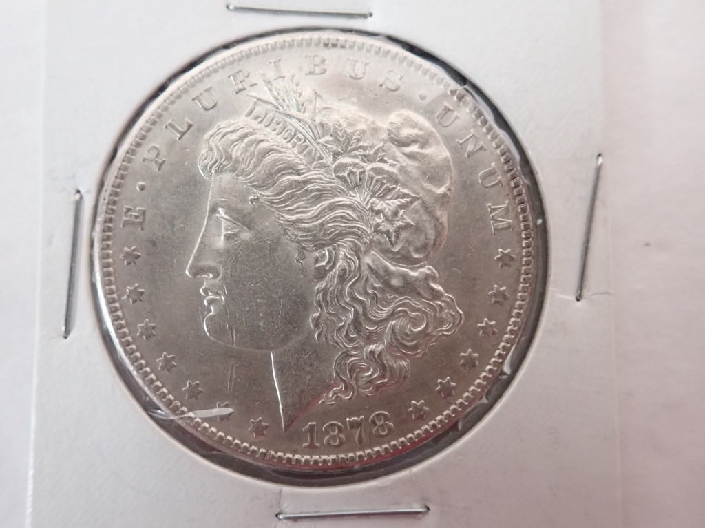 Two 1878 S $1 Morgan Silver Dollar Coins - 2