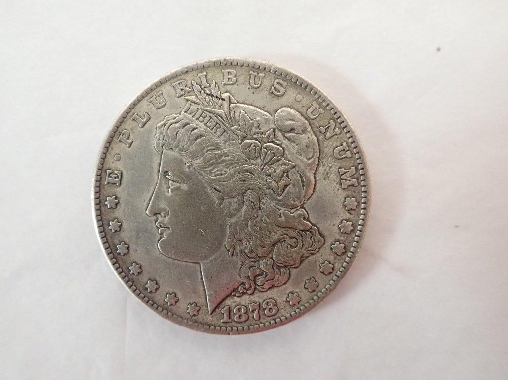 Two 1878 S $1 Morgan Silver Dollar Coins - 4