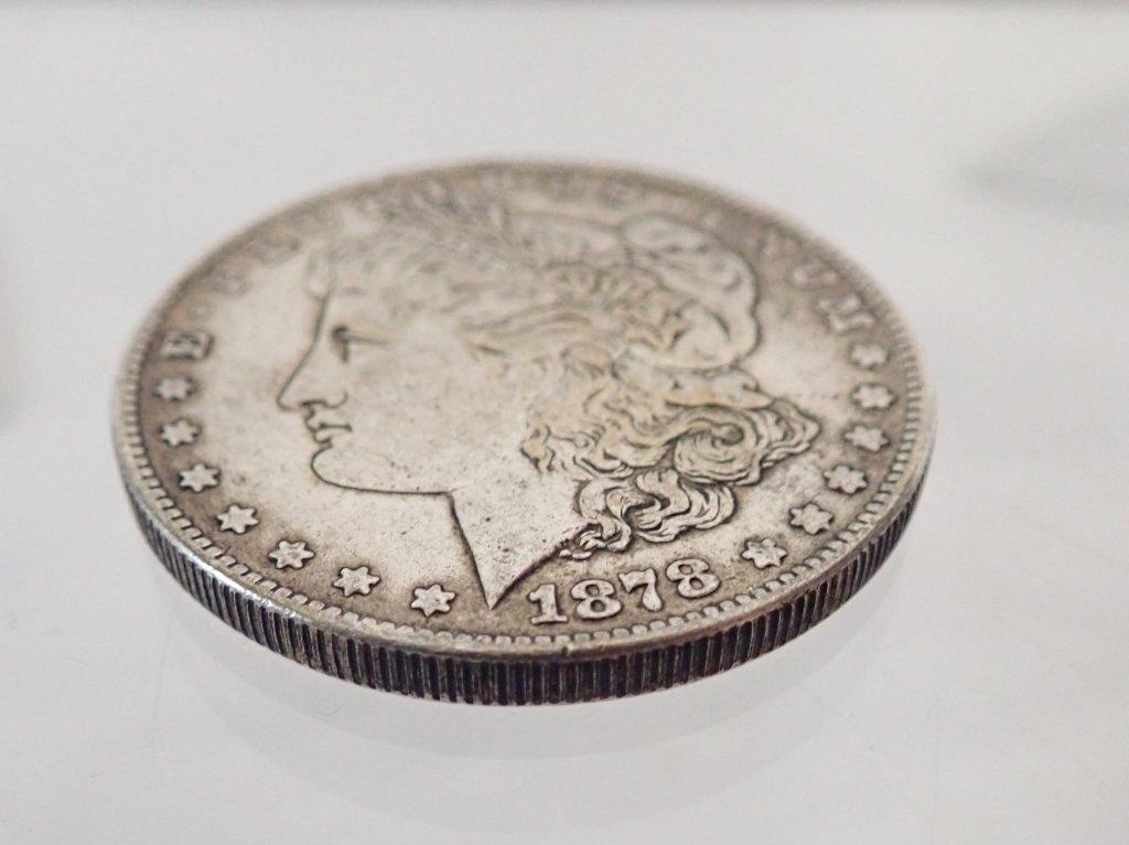 Two 1878 S $1 Morgan Silver Dollar Coins - 6