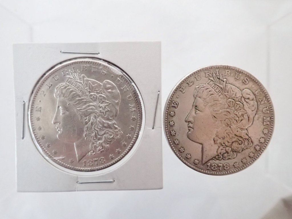 Two 1878 S $1 Morgan Silver Dollar Coins - 7