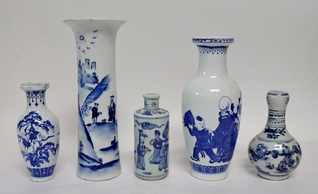 Blue & White Asian Vase Assortment