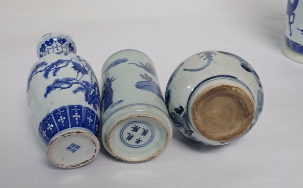 Blue & White Asian Vase Assortment - 6