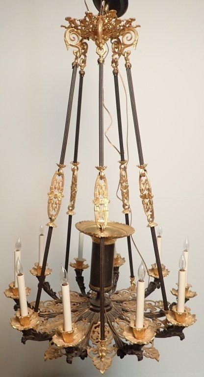19th Century Louis Philippe Bronze Chandelier