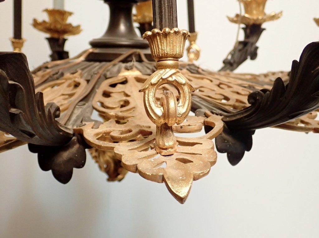 19th Century Louis Philippe Bronze Chandelier - 7